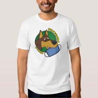 Doberman Schutzhund del dibujo animado Poleras