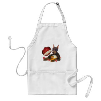 Doberman Share A Beer With Your Best Friend Adult Apron