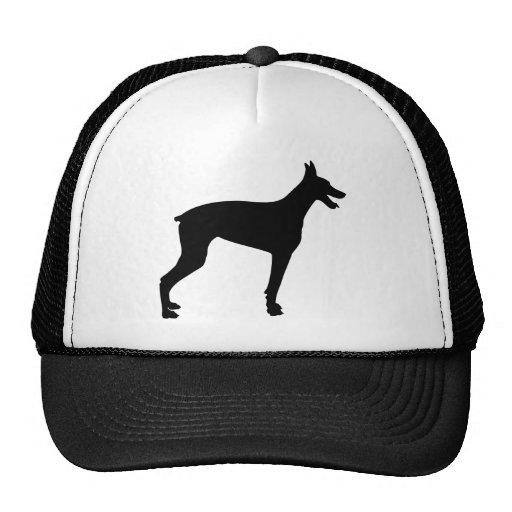 Doberman Silhouette Hats