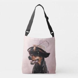 Doberman sofisticado bolsa cruzada
