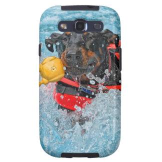 Doberman Swimming Samsung Galaxy S3 Case