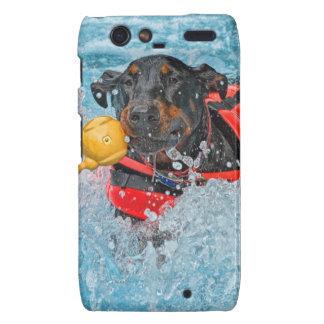 Doberman Swimming Motorola Droid RAZR Cover