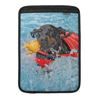Doberman Swimming Sleeve For MacBook Air