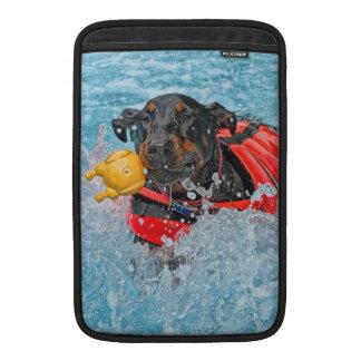 Doberman Swimming MacBook Air Sleeves
