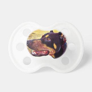 Doberman Swirl Paint 2 Pacifier