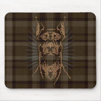Doberman Swirlface gifts Mouse Pad