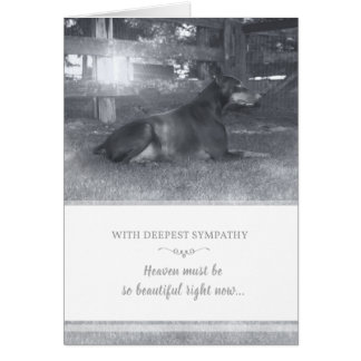 Doberman Sympathy Card - Heaven Must be Beautiful