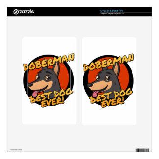 Doberman - the best dog, ever! kindle fire skin