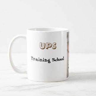 Doberman/UPS man training.. Coffee Mug
