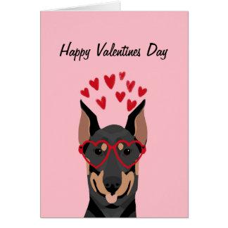 Doberman Valentines Day Love Card