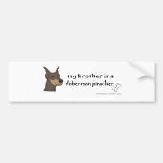 DobermanBrownBrother Bumper Sticker