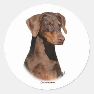 Dobermann 9Y381D-162 Etiquetas Redondas