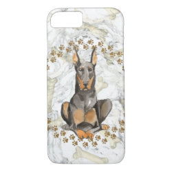 Case-Mate Barely There iPhone 7 Case with Doberman Pinscher Phone Cases design
