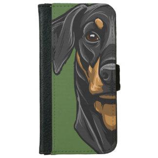 Dobermann Portrait Wallet Phone Case For iPhone 6/6s