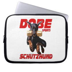 Neoprene Laptop Sleeve 10 inch with Doberman Pinscher Phone Cases design