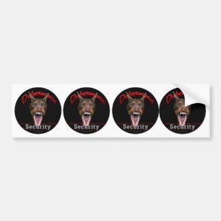 Dobermann Security- red Bumper Sticker