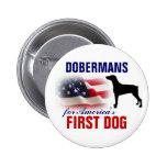 Dobermans para el primer perro pin
