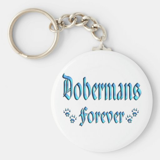 Dobermans para siempre llavero redondo tipo pin