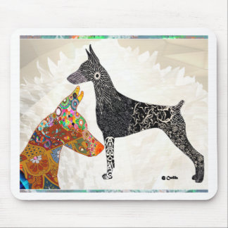 DobermanZentangle and Color Mouse Pad