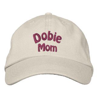 Dobie Mom Doberman Embroidered Cap