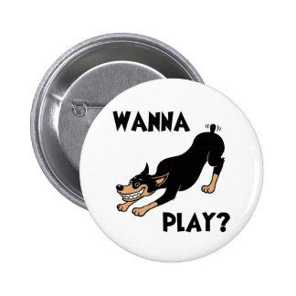Dobie - Play 2 Inch Round Button