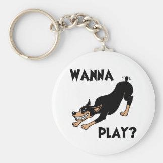 Dobie - Play Keychain