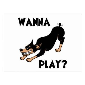 Dobie - Play Postcard