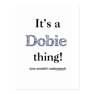 Dobie Thing Postcard