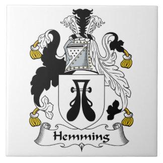 Dobladillar el escudo de la familia azulejos