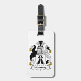 Dobladillar el escudo de la familia etiquetas bolsas