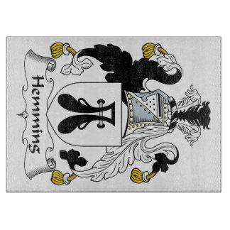 Dobladillar el escudo de la familia tabla para cortar