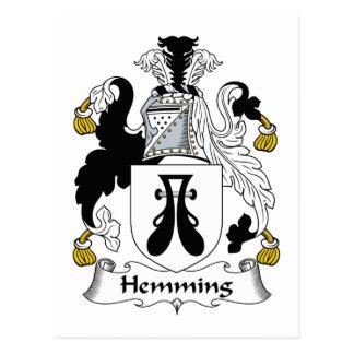 Dobladillar el escudo de la familia postales