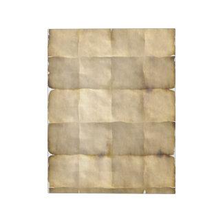 Doblado, envejecido, libreta del papel de blocs