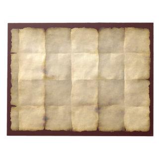 Doblado, envejecido, libreta del papel de pergamin blocs de notas