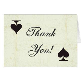 Doblado gracias cardar amor del casino del vintage tarjetón