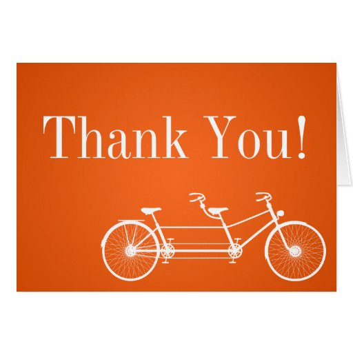 Doblado gracias cardar la bici doble anaranjada ca tarjeta