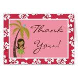Doblado gracias cardar Luau hawaiano rosado tropic Tarjetas