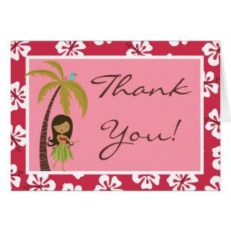 Doblado gracias cardar Luau hawaiano rosado tropic Tarjeta Pequeña