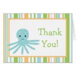 Doblado gracias cardar vida marina rayada del océa tarjetas