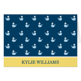 Doblado gracias observa ballenas de muy buen gusto tarjeta pequeña