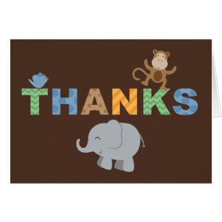 Doblado gracias tema de la selva de las tarjetas