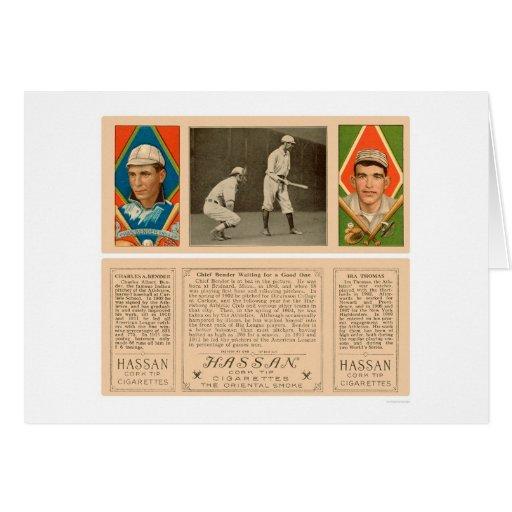 Doblador en el béisbol 1912 del atletismo del palo felicitaciones