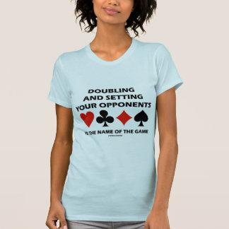 Doblando y fijando a sus opositores (puente) tee shirt