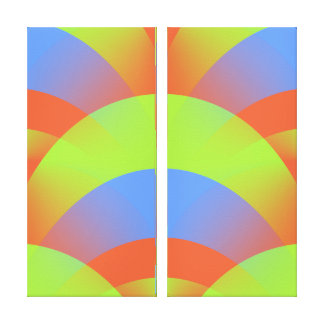 Doble abstracto de neón de FanCisco de la fan Impresión En Lienzo