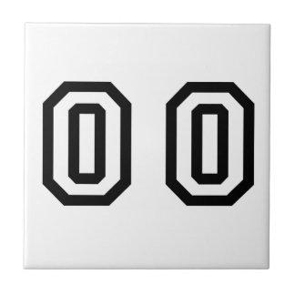 Doble cero del número azulejo cuadrado pequeño