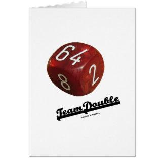 Doble del equipo cubo de duplicación del backgamm tarjetón