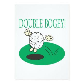 "Doble - duende invitación 5"" x 7"""