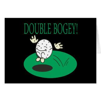 Doble - duende tarjeta de felicitación