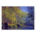 Doble en el río de Epte cerca del arte de Giverny  Felicitaciones