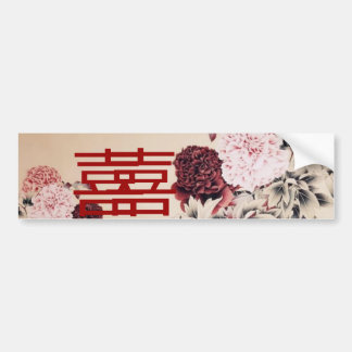 Doble Happines/boda chino de la primavera del Pegatina Para Auto